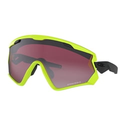 Oakley Wind Jacket 2.0 Neon Retina w/ Prizm Snow Black